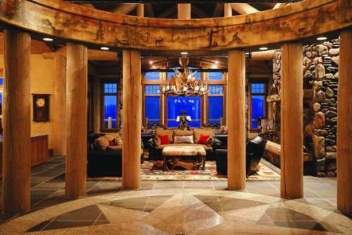 luxury log cabin usa