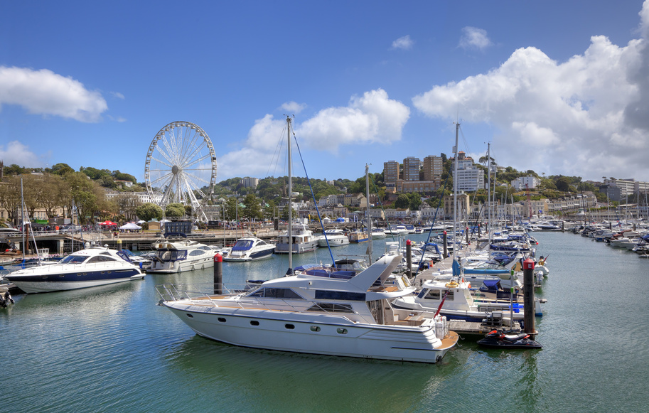 Torquay Harbour, log cabin holidays in Devon