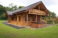 log cabins in wales