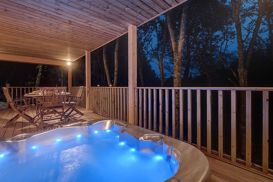 Log cabin with hot tub in scotland Log cabins with hot tubs scotland