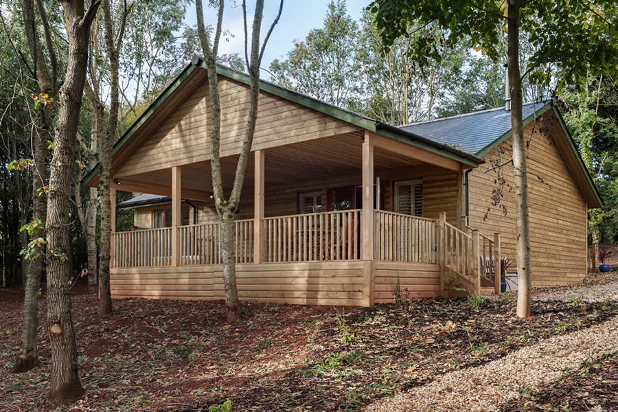 Log cabin outside
