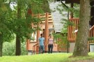 Kielder Water Lodges outside