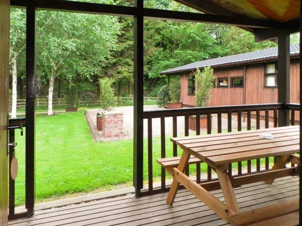 yorkshire log cabin view