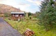 the log cabin scotland view