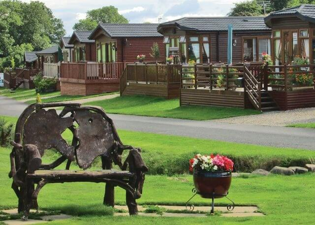 Badgers retreat log cabins richmond yorkshire for Log cabins for sale north yorkshire