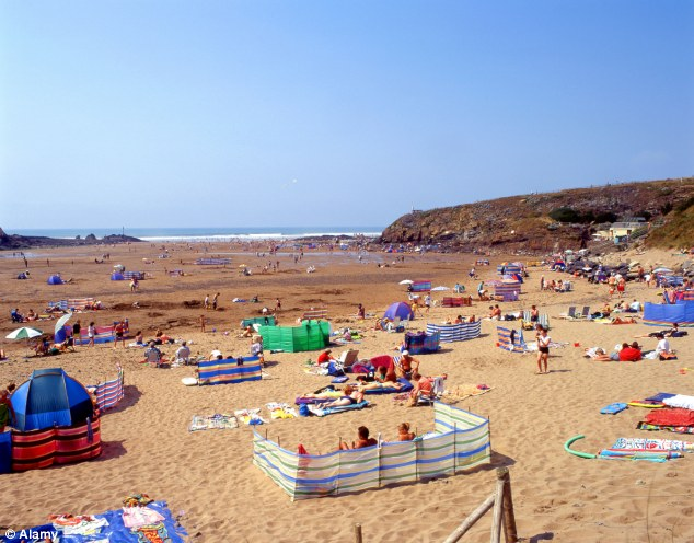 bude beach cornwall